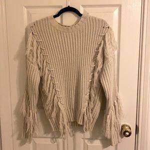 NASTY GAL fringe sweater